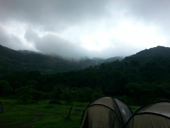 Rajmachi, India: tents against a perfect background