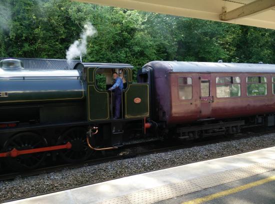 The Temple: Steam train in Matlock...