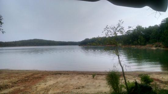Lake Hartwell State Park: A beautiful view until you see a tent,with campfire and beer bottles. This is in trailer area. N