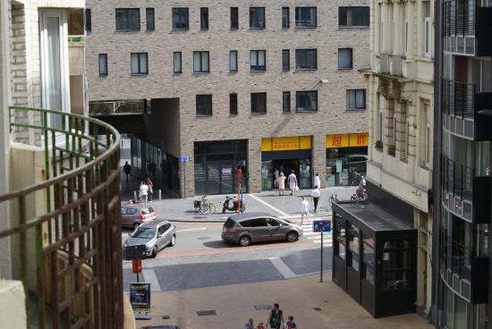 Royal Astor Hotel : View of shops from hotel balcony