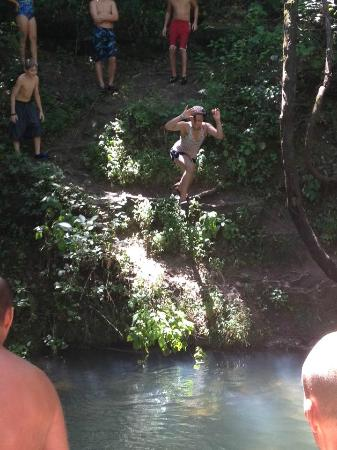 Caulfield, MO: jumping into one of the springs