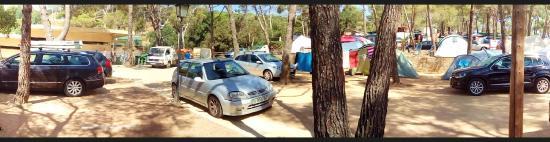 Calonge, Spanien: emplacement près sanitaires+containers