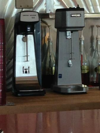 old fashion frappe and ice cream soda machines still used today