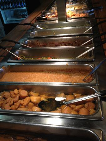 Williston, Carolina del Sud: a small portion of the hot buffet