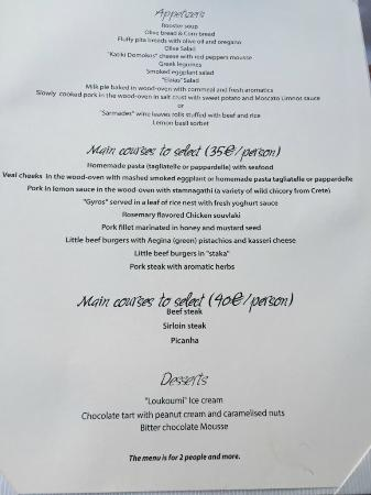 Kifisia, Hellas: 14 course menu