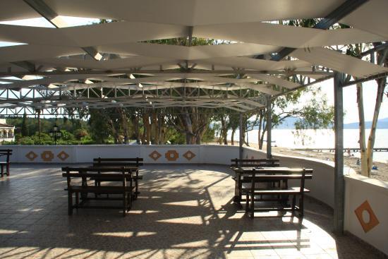 beach bar bild von attika beach hotel korfu tripadvisor. Black Bedroom Furniture Sets. Home Design Ideas
