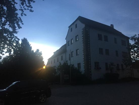 The Schloss Hotel Wasserburg at sunset