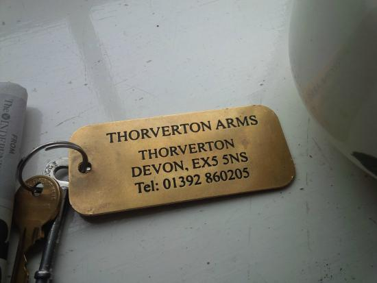 Thorverton, UK: room key