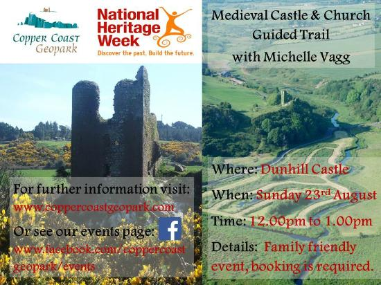 Bunmahon, Irland: Medieval Castle & Church Guided Trail Sunday 23 August 2015