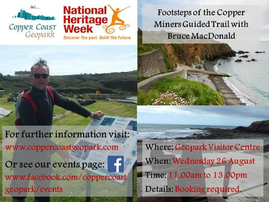 Bunmahon, Irlanda: Walk in the Footsteps of the Copper Miners: Guided Trail on Saturday 29 August 2015