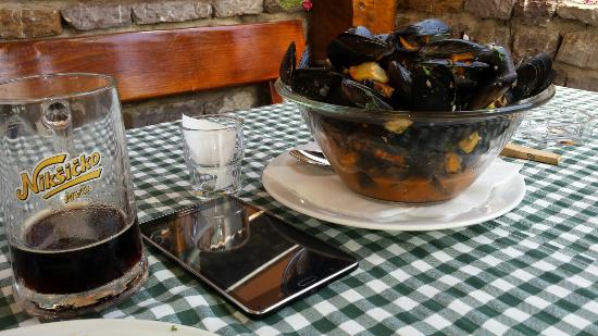 Restoran Pivnica: те самые мидии