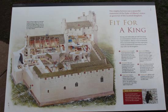 Plan Von Doune Castle Picture Of Doune Stirling