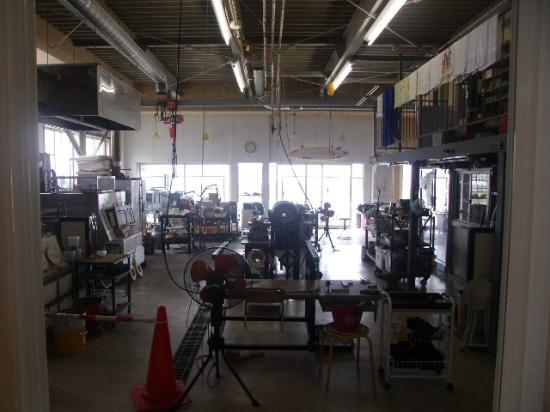 Ryuhyo Glass Museum: 体験工房的なセクションもあります