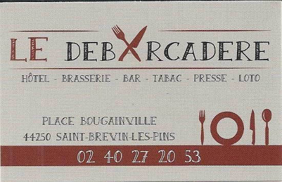 Restaurant Le Debarcadere La Petite Carte De Visite