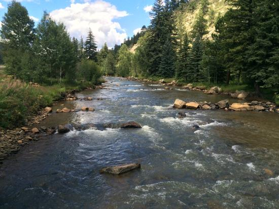 North Fork Ranch: The private fishing stream.