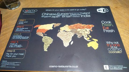 Cosmo Mexico Map.Cosmo Swansea Picture Of Swansea Swansea Tripadvisor