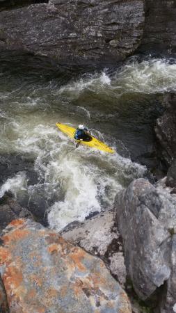 Invermoriston Falls: Lachs ist gerade abgetaucht ;-)