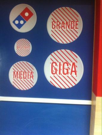Tamanho das pizzas para se ter uma idéia Bilde av Domino's