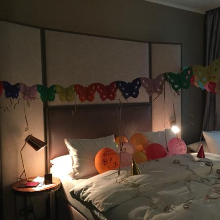 The Emblem Hotel Room With Birthday Decorations