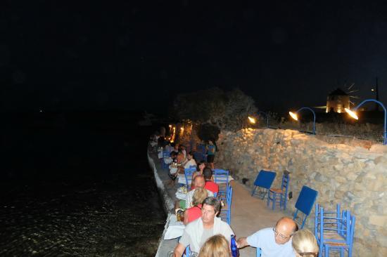 Ouzerie Restaurant Karnagio : By the sea