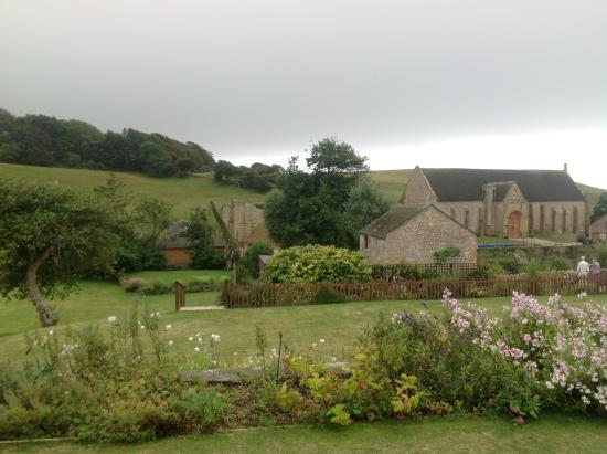 The Abbey House: View from the garden
