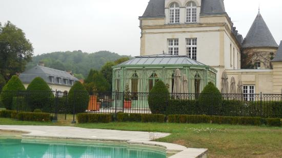 Vue De La Piscine Picture Of Chateau De Courcelles Courcelles Sur