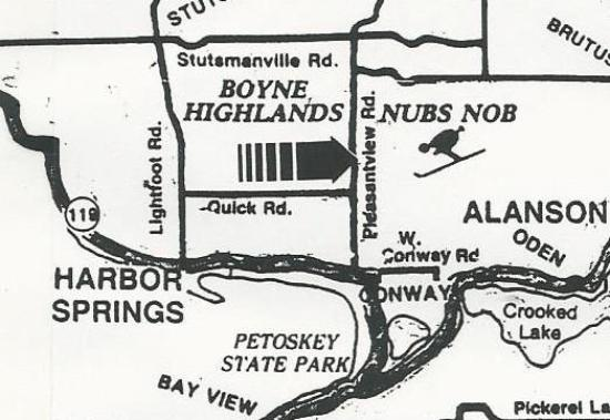 Harbor Springs, MI: Located less than a mile from Nubs Nob and Boyne Highlands