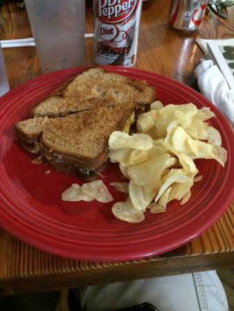 Hillsboro, NM: Only in NM! Green chili bacon grilled cheese!