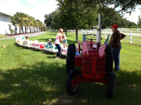 Tractor Train Rides : Tractor train ride was a big hit picture of paquette s
