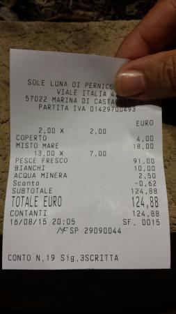 """Marina di Castagneto Carducci, İtalya: 2 persone....prezzo """"rapina""""!!!!!"""