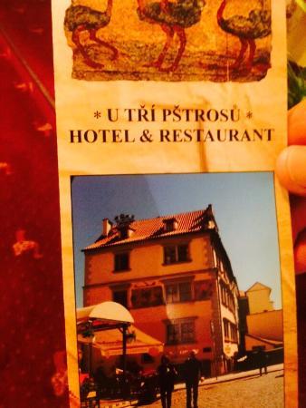 Hotel U Tri Pstrosu (At the Three Ostriches): photo0.jpg