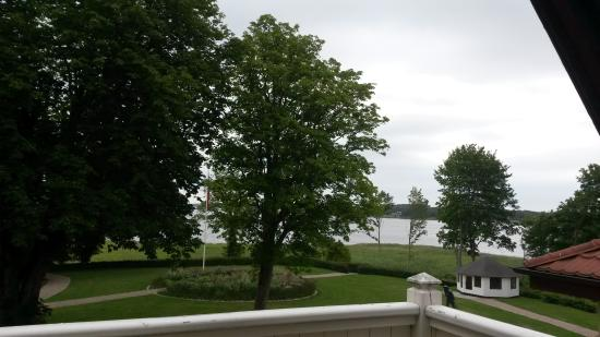 Hotel Frederiksminde: view from room and out on balcony