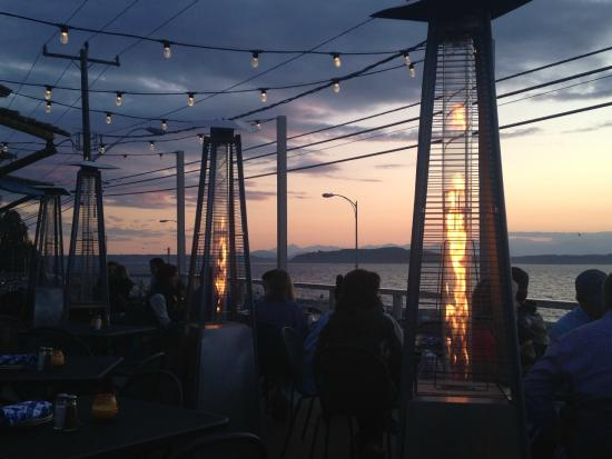 Upper Deck At Sunset Picture Of Duke S Chowder House On Alki
