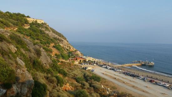 Rheme Beach: Widok z okna bez dopłaty.