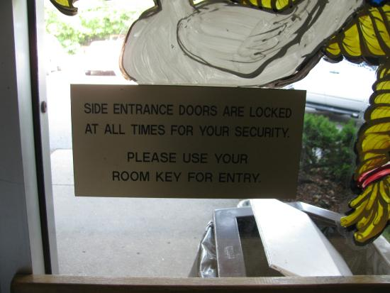West Yarmouth, MA: Note about the secure doors