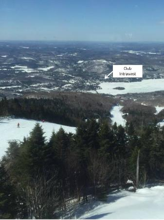 Embarc Tremblant: Annotated Image of Club Intrawest - View From Mountain