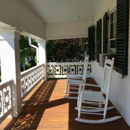 McDaniel, MD: Upstairs porch.