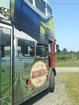 Wolfville Magic Winery Bus: The bus!