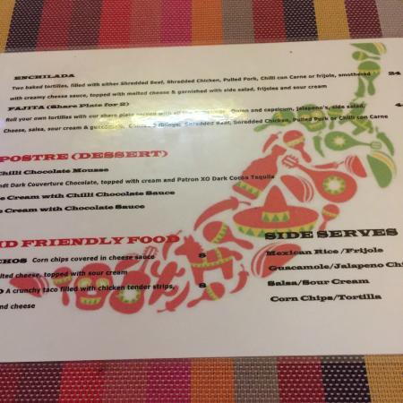Coolum Beach, Austrália: Jake's menu8 2