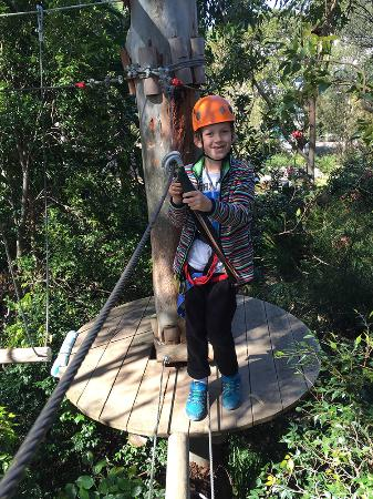 Urban Jungle Adventure Park: Fred loving it.