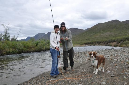Alpine Creek Lodge: Fly fishing for grayling