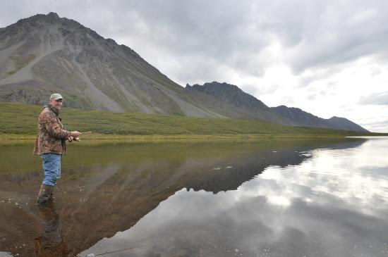 Alpine Creek Lodge: Caught Lake Trout and Grayling here