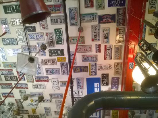 Red Light Garage : Ceiling of Red Light Restaurant