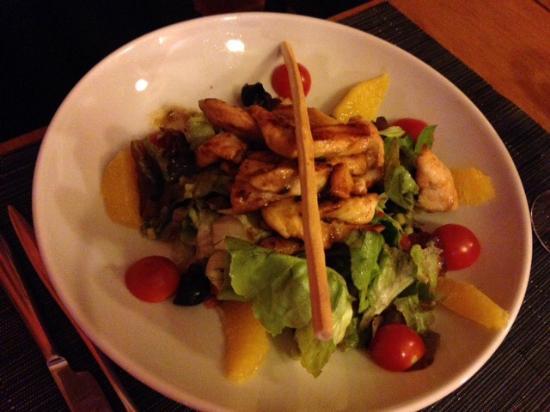 Salade de poulet au miel