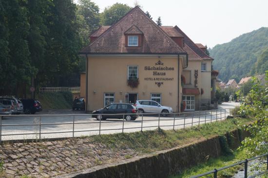 Berggieshübel, Alemania: Ansicht vom Parkplatz
