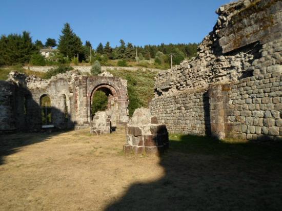 Mazan-l'Abbaye, فرنسا: les ruines de l'abbaye