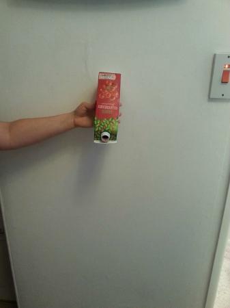 Boscombe Reef Hotel: Empty juice carton