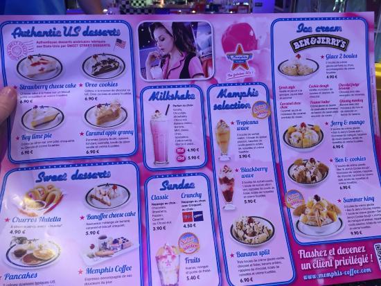 Carte Memphis Cafe