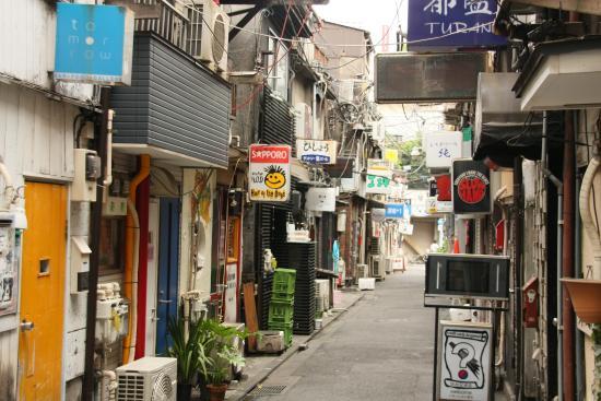Shinjuku Golden Gai: foto do beco onde fica o Nagi