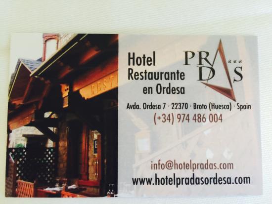 Hotel Restaurante Pradas Ordesa : photo0.jpg